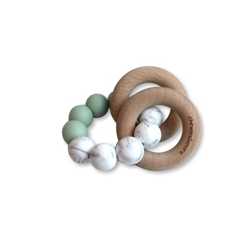 Chewies and More Basic Rattle - Early Sea & Marble