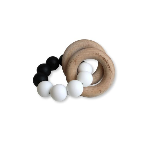 Chewies and More Basic Rattle - Black & White