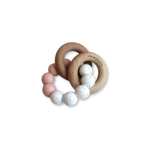 Chewies and More Basic Rattle - Rose Gritt & White Gritt