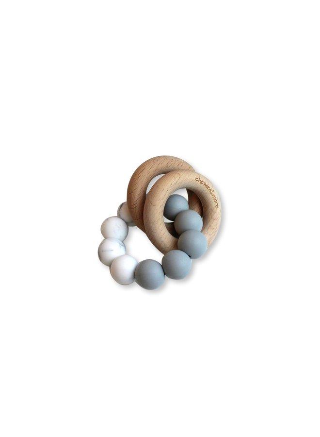 Basic Rattle - Lichtgrijs & Marble