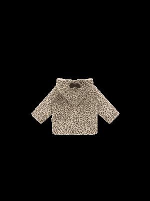 House of Jamie Bowtie Hooded Jacket - Snow Leopard