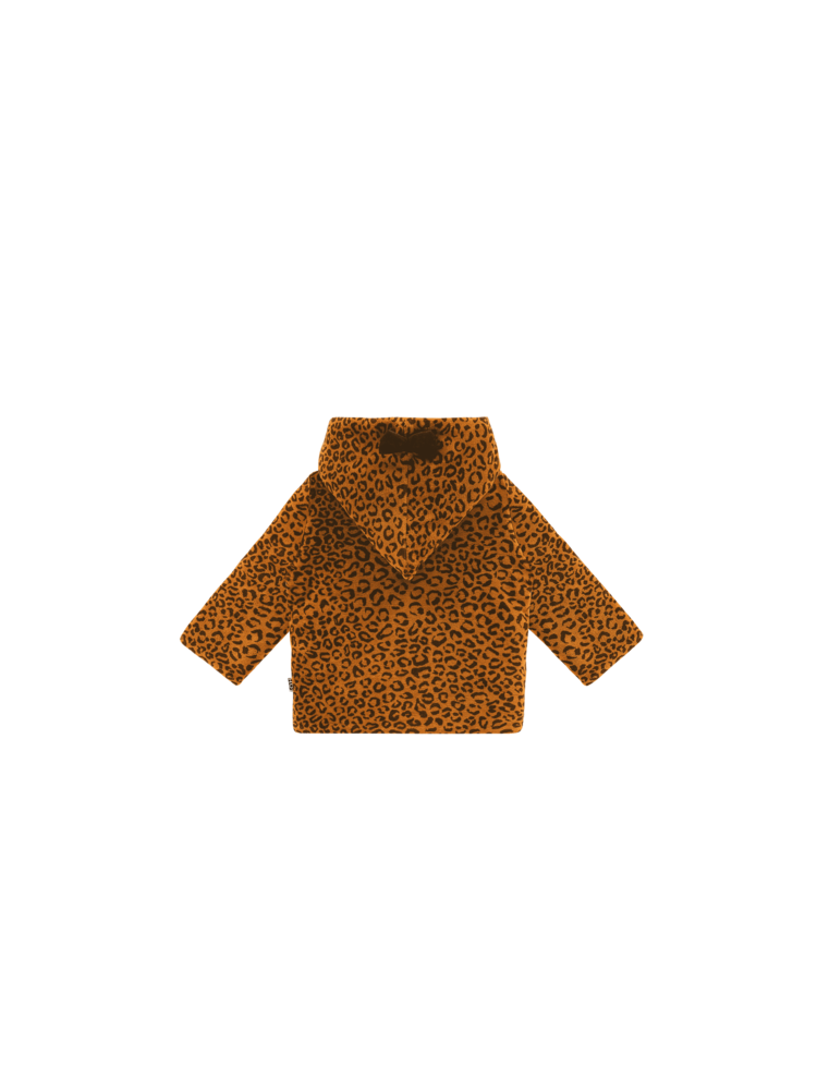 House of Jamie Bowtie Hooded Jacket - Golden Brown Leopard