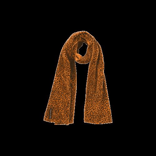 House of Jamie Long Scarf Fleece - Golden Brown Leopard