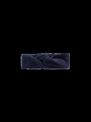 House of Jamie Turban Headband - Midnight Velvet Blue