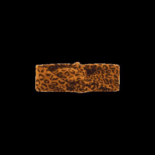 House of Jamie Turban Headband - Golden Brown Leopard