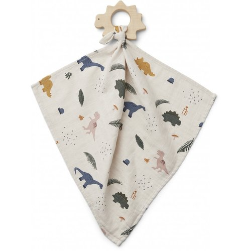 Liewood Dines Teether Cuddle Cloth - Dino Mix