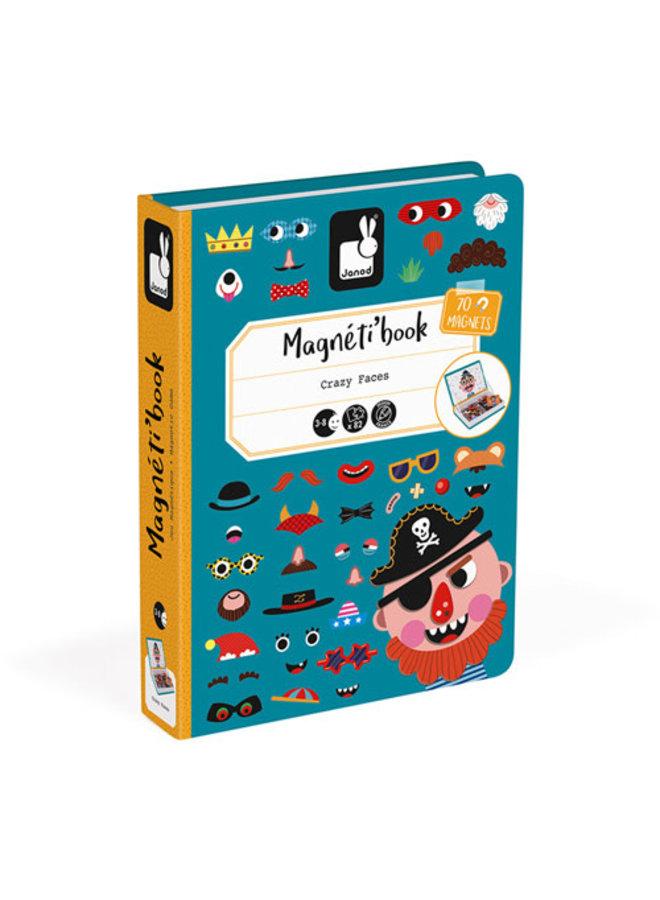 Magnetibook - Gekke Gezichten Jongens