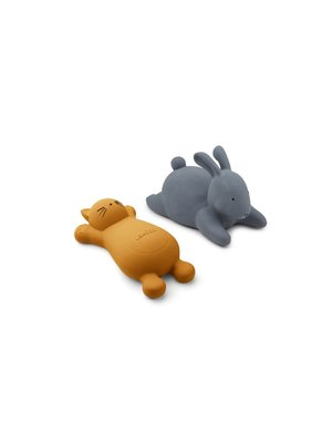 Liewood Vikky bath toys - 2 pack - Cat mustard
