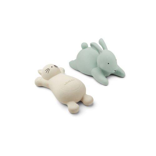 Liewood Vikky bath toys - 2 pack - Cat creme de la creme