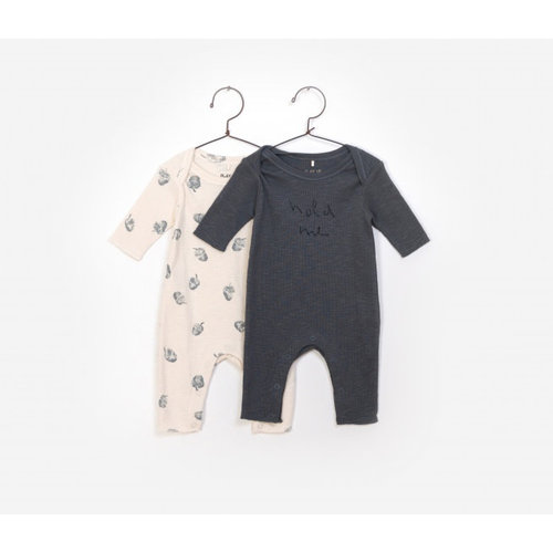 Play Up Pack 2 Rib Flamé Jumpsuit - Hold me / Nuts