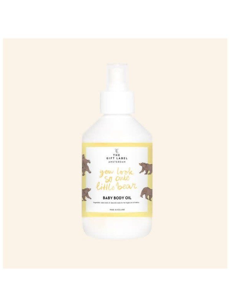 The Gift Label Baby Body oil 250ml - you look so cute little bear