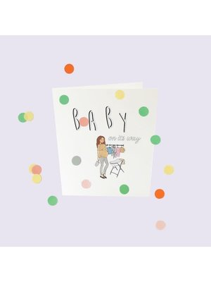 The Gift Label Confetti Cards Baby - Baby on it's way