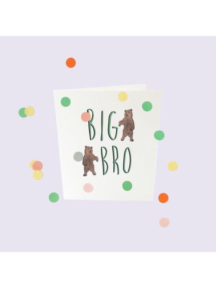 The Gift Label Confetti Cards Baby - Big bro