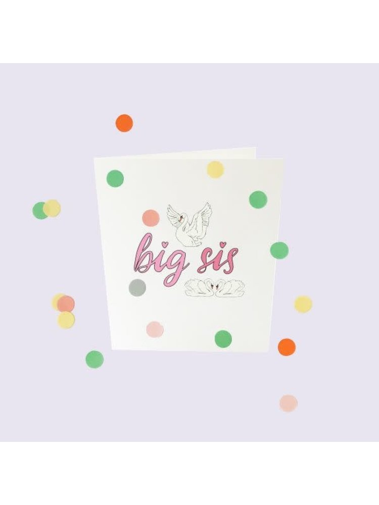 The Gift Label Confetti Cards Baby - Big sis