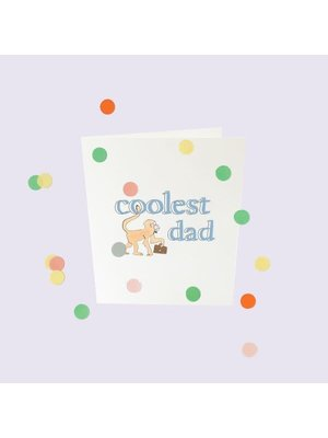 The Gift Label Confetti Cards Baby - Coolest dad