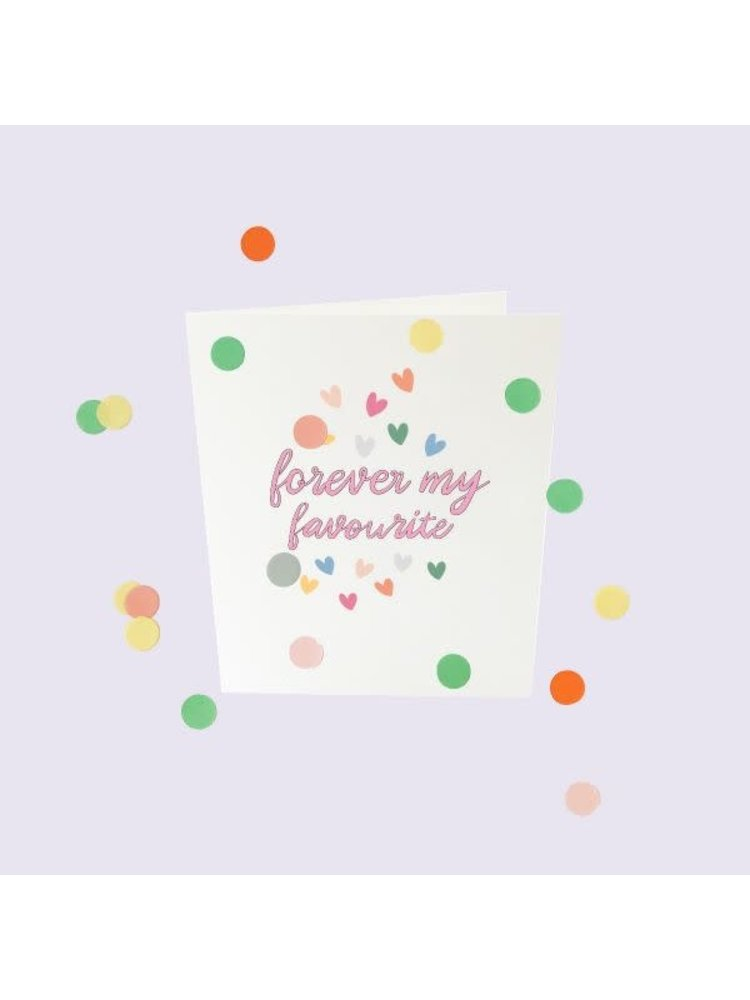The Gift Label Confetti Cards Baby - Forever my favorite