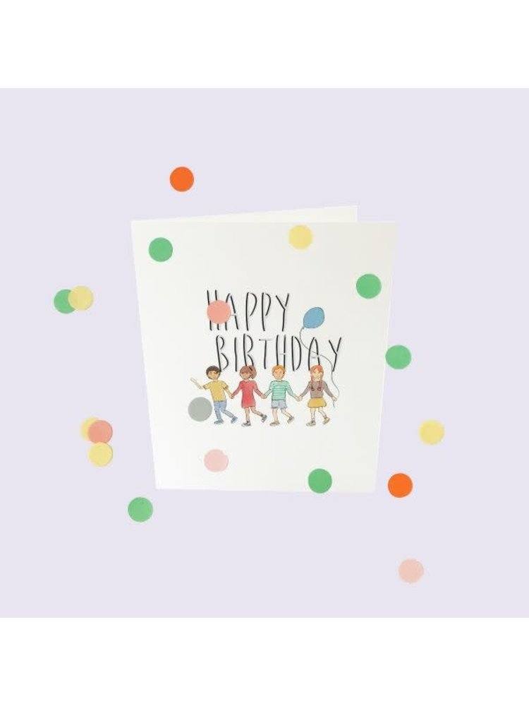 The Gift Label Confetti Cards Baby - Happy Birthday