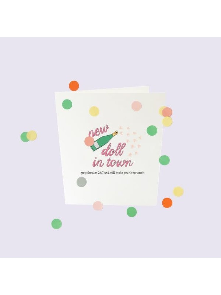 The Gift Label Confetti Cards Baby - New doll in town