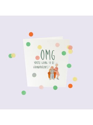 The Gift Label Confetti Cards Baby - OMG you will become grandparents