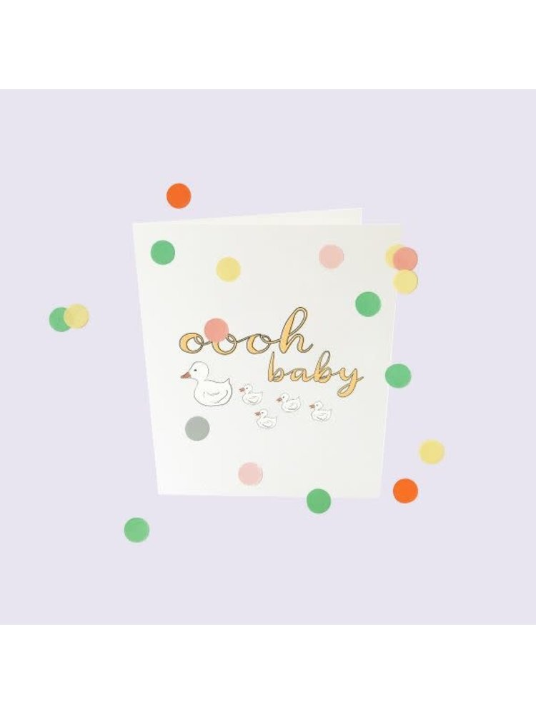 The Gift Label Confetti Cards Baby - Oooh baby