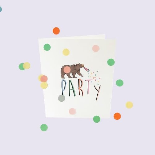The Gift Label Confetti Cards Baby - Party