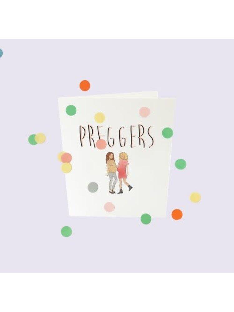 The Gift Label Confetti Cards Baby - Preggers