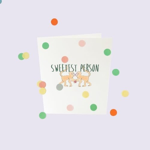 The Gift Label Confetti Cards Baby - Sweetest person