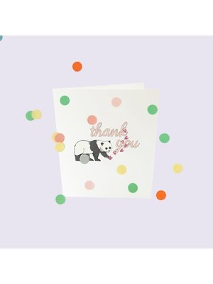 The Gift Label Confetti Cards Baby - Thank you