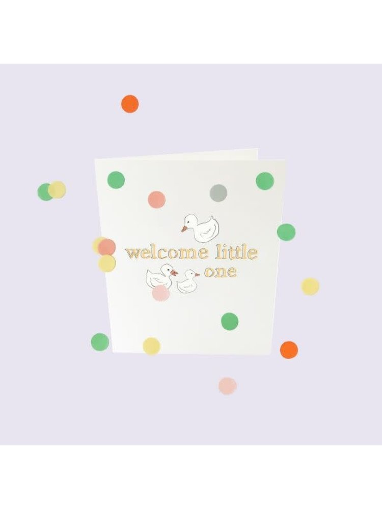The Gift Label Confetti Cards Baby - Welcome little one