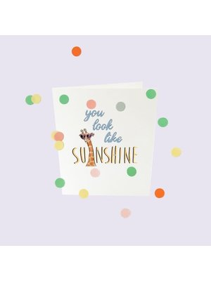 The Gift Label Confetti Cards Baby - You look like sunshine