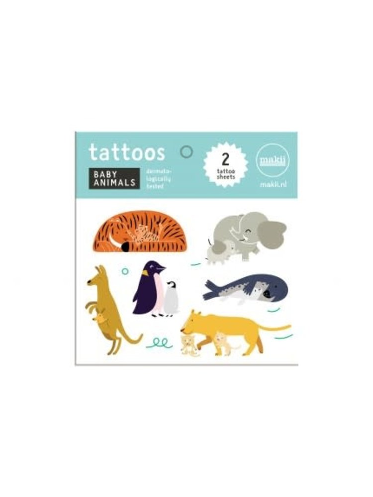 Makii Tattoo 'BABY ANIMALS'