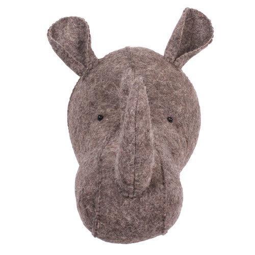 Kids Depot Zoo Rhino Dark Brown