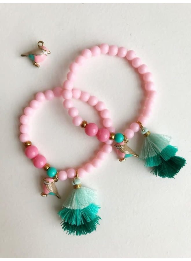 Armband Roze Vogel