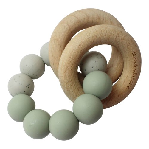 Chewies and More Basic Rattle - Sage & Grey Gritt
