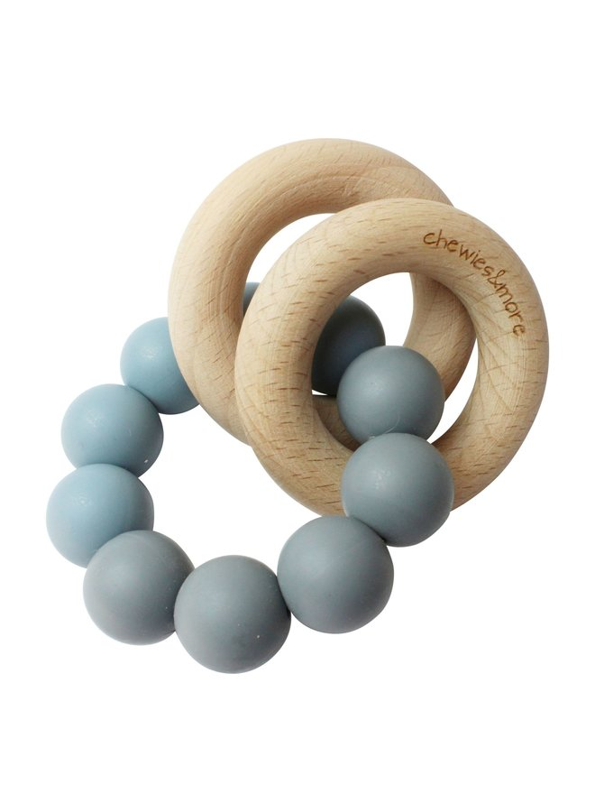 Chewies and More - Basic Rattle - Donker Grijs & Dusty Bleu
