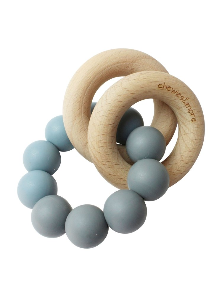 Chewies and More Basic Rattle - Donker Grijs & Dusty Bleu