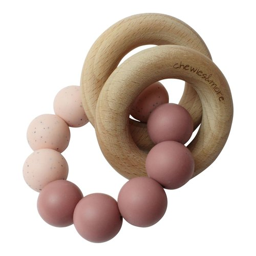 Chewies and More Basic Rattle - Blush & Rose Gritt