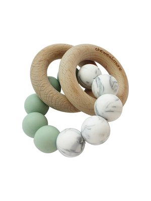 Chewies and More Basic Rattle - Deep Green & Marble