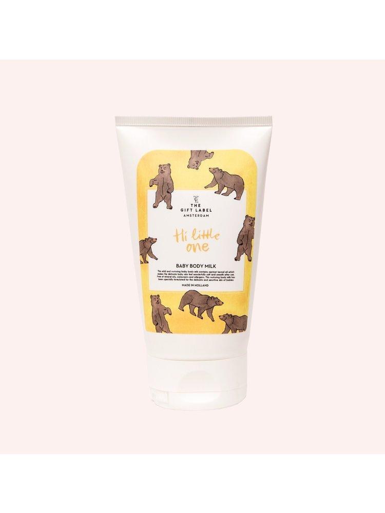 The Gift Label Baby body milk - Hi little one