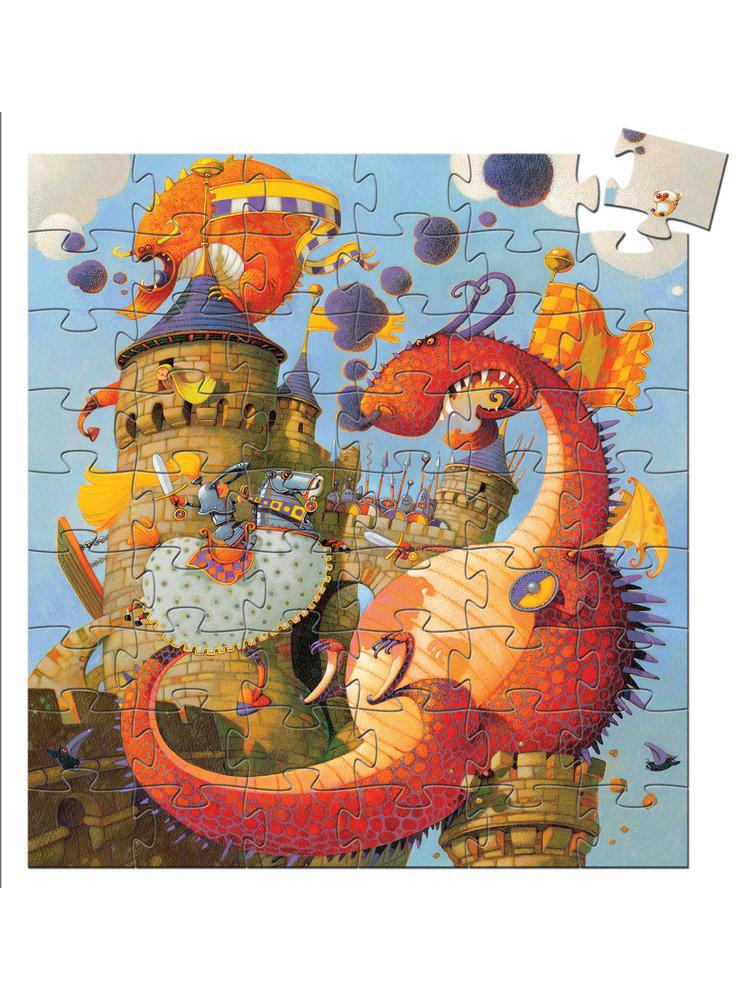 Djeco Puzzel - De Ridder en de Draak 54 pcs