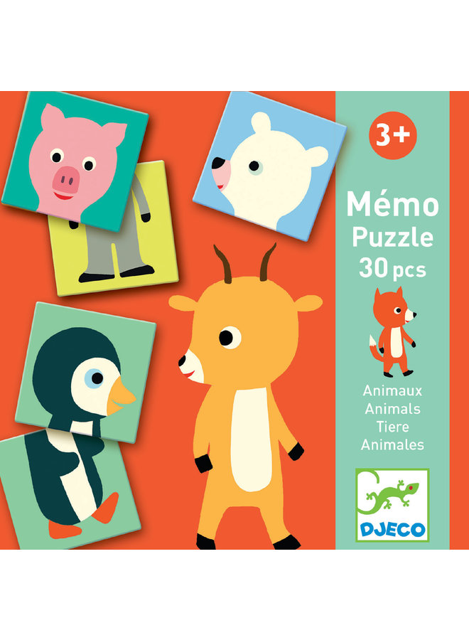 Educatief Spel - Memorie Dieren Puzzel - DJ08126