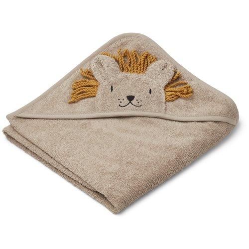 Liewood Albert hooded towel - Lion Stone Beige