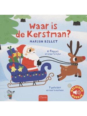 Clavis Books Waar is de Kerstman (geluidenboekje)