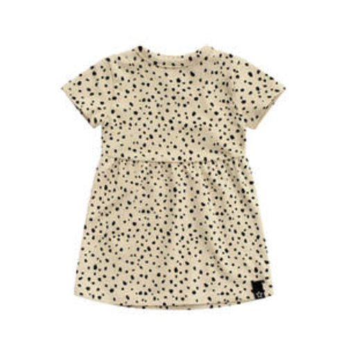 Your Wishes Pleated Dress - Cheetah Nude