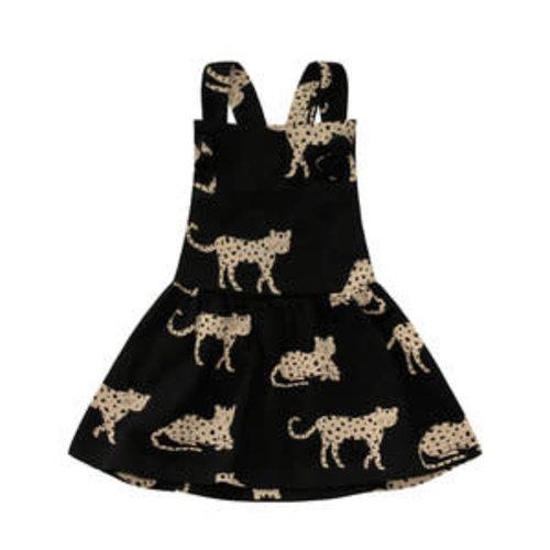 Your Wishes Dungaree Dress - Wild Cheetahs