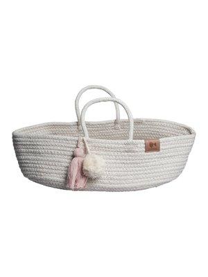 Fabelab Rope Doll Basket - Mauve