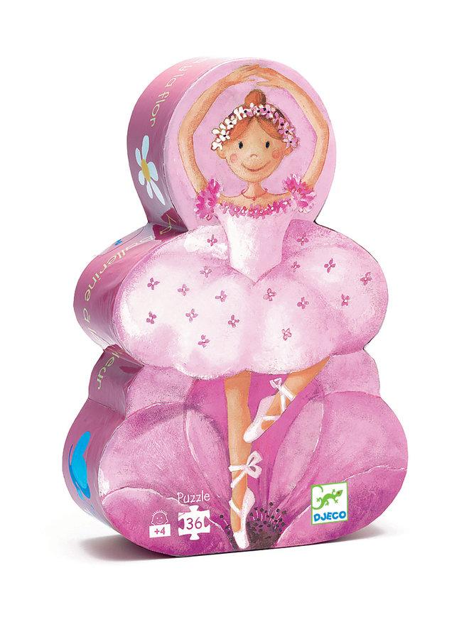 Puzzel - Ballerina's met Bloemen 36 pcs - DJ07227