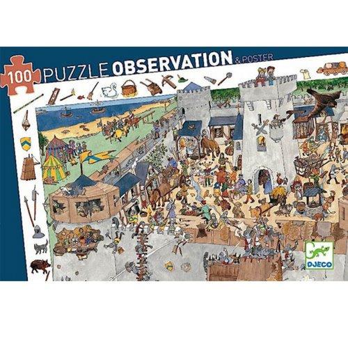 Djeco Observatiepuzzel - Kasteel (100st) - DJ07503