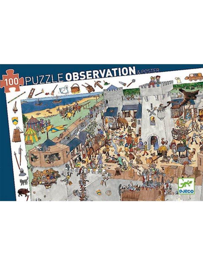Observatiepuzzel - Kasteel (100st) - DJ07503