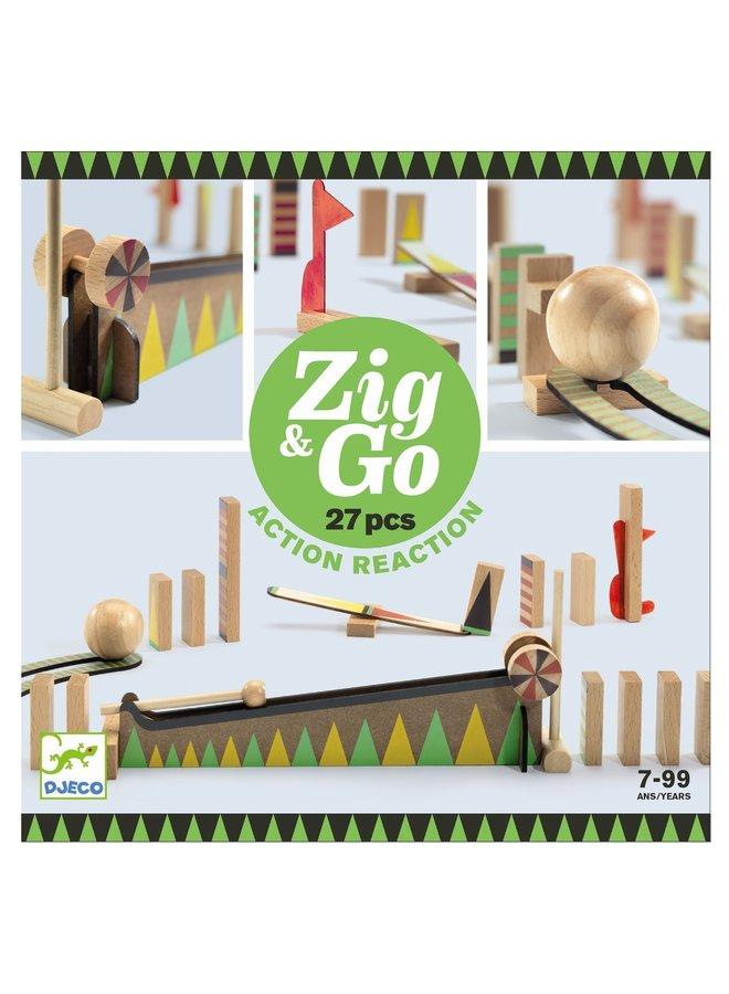 Kettingreactiespel Zig & Go (27st)